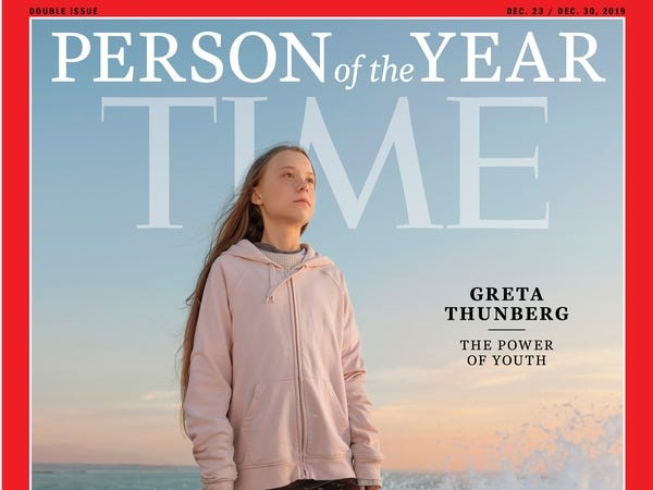 Image result for greta on time magazine cover